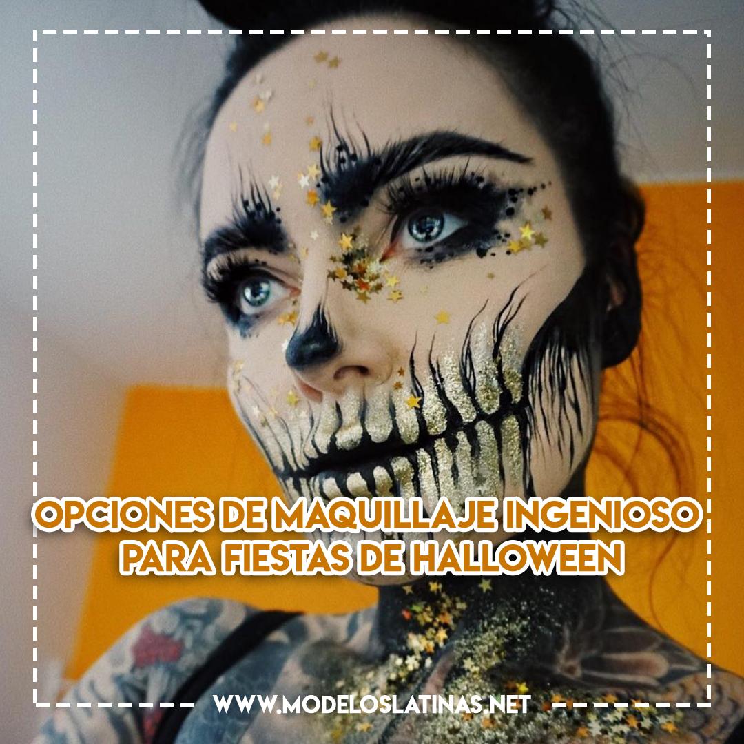 Opciones de maquillaje ingenioso para fiestas de Halloween