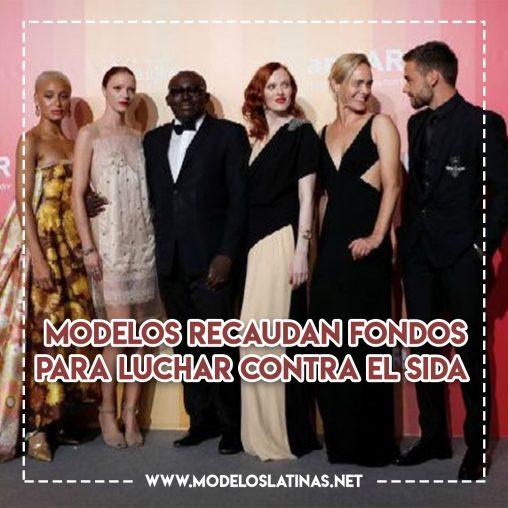 Modelos recaudan fondos para luchar contra el SIDA, ¡aplausos de pie!
