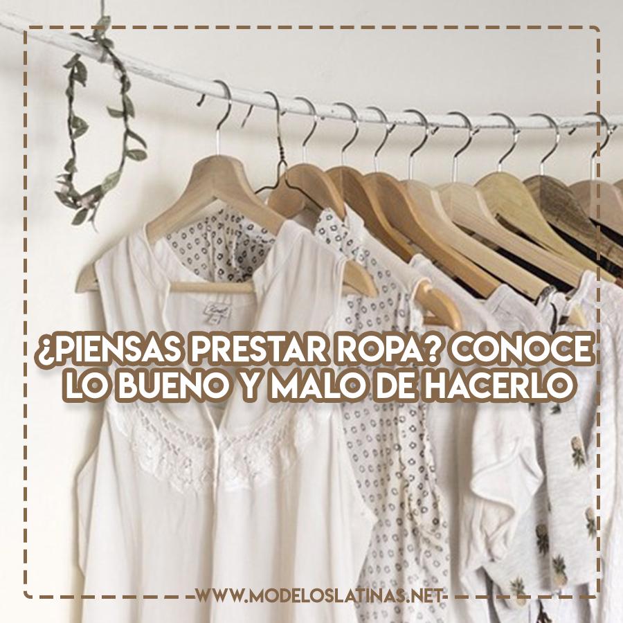 Prestar ropa